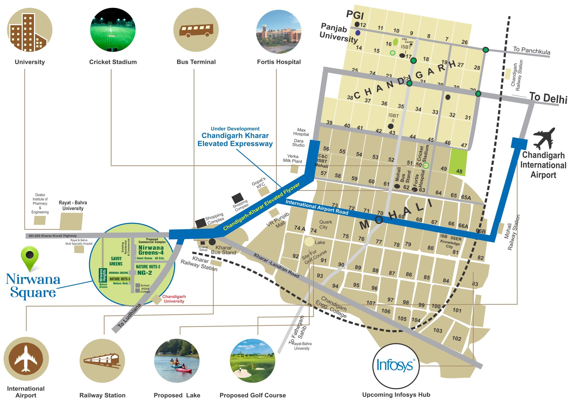 nirwana greens location map