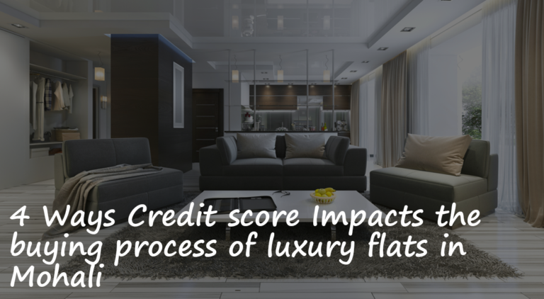4 Ways Credit score Impacts the buying process of luxury flats in Mohali